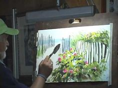 """Around & About Watercolor; """"Beach Roses"""" - YouTube"""