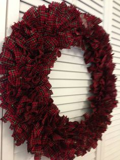 Plaid wreath