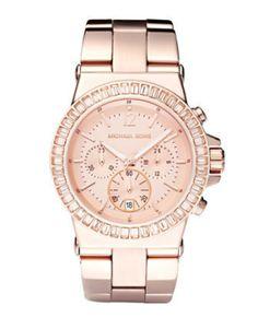 Michael Kors Baguette-Bezel Watch,...