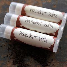 Hazelnut Latte lip balm by orangethyme on Etsy, $3.50