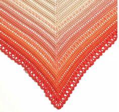 FREE crochet shawl pattern (MIJO CROCHET) Whirl, by Scheepjes | Happy in Red