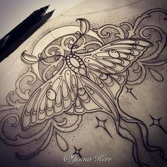 """""""#Lunamoth #moth #underbust"""""""