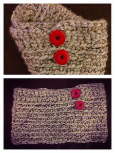 Easy cowl to protect the throat on cold winters - sl stitch half dbl stitch - sew buttons