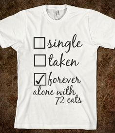 forever alone with 72 cats @Jocelyn Cumming @Sarah Chintomby Adams @Stephanie Close Clark I found Brown's birthday present