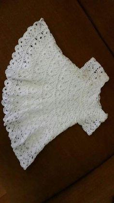 Crochet Vest Pattern Knit Crochet Crochet Patterns Crochet Baby Booties Baby Girl Crochet Crochet For Kids Baby Knitting Hand Embroidery Baby Dress IG ~ ~ crochet yoke for Irish lace, crochet, crochet p This post was discovered by Ел New model, new colo Crochet Lace Collar, Crochet Yoke, Crochet Fabric, Crochet Stitches, Knitting For Kids, Crochet For Kids, Baby Knitting, Knitted Baby, Baby Girl Crochet