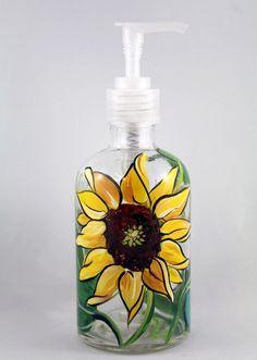 Sunflower Soap Dispenser