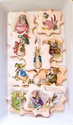 Beatrix Potter cookies...fabulous!                                                                                                                                                                                 More
