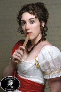 Tutorial for Regency Hair Style from Custom Wig Company (Jane Austen fantasia) Regency Dress, Regency Era, Jane Austen, Historical Hairstyles, Wig Companies, 1800s Fashion, Medieval Fashion, Steampunk Fashion, Bon Look