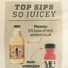 Metro newspaper - Pimento in the 'Top Sips' list! Vodka Bottle, Water Bottle, Newspaper, Juice, Drinks, Top, Instagram, Drinking, Beverages