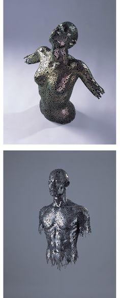 bike chain sculpture