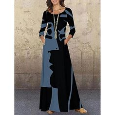 LightInTheBox - Global Online Shopping for Dresses, Home & Garden, Electronics, Wedding Apparel Long Sleeve Maxi, Maxi Dress With Sleeves, Trendy Dresses, Casual Dresses, Maxi Dresses, Loose Dresses, Ladies Dresses, Dress Long, Womens Swing Dress