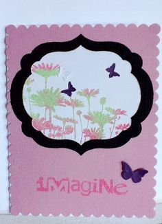 Stampin Up handmade card lavener purple butterflies by Wcards, $3.50