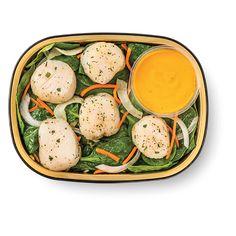 wild scallops, carrot puree with lemon butter sauce & veggies Wegmans Recipe, Lemon Butter, Butter Sauce, Scallops, Carrots, Seafood, Veggies, Healthy Eating, Meals