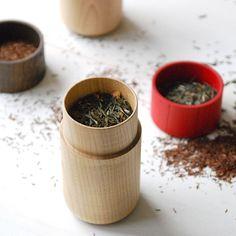 Tutu wood container - Soji Collection - Medium Red - MONOSQUARE