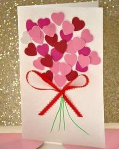 Valentine's Day is adorned with numerous craft specialties. Handmade crafts infuse Valentine's Day with a special color. Numerous easy-to-make craft … Kids Crafts, Valentine Crafts For Kids, Valentines Day Activities, Glue Crafts, Mothers Day Crafts, Craft Activities, Preschool Crafts, Valentine Ideas, Valentines Cards For Teachers