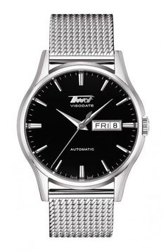 TISSOT HERITAGE VISODATE MEN'S AUTOMATIC BLACK DIAL WATCH WITH STAINLESS STEEL BRACELET