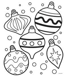 christmas tree ornaments coloring pages for kids | Pin on Coloring pages