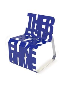 The theres no place like home chair celebrates typography in a functional way.lt/HUShZy to get to know the clever Canadians behind Palette Industries. Funky Furniture, Unique Furniture, Furniture Design, Muebles Art Deco, Take A Seat, Cool Chairs, Contemporary Interior, Chair Design, Typography Design