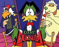 Count Duckula... very much in the mold of Dangermouse.