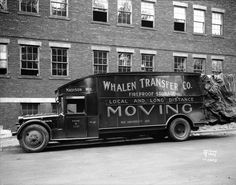Loaded Moving Van | Photograph | Wisconsin Historical Society
