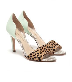 Loeffler Randall heels in mind and leopard print