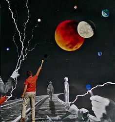 positive negative by collage-a-dada (analog collages by shawn marie hardy)