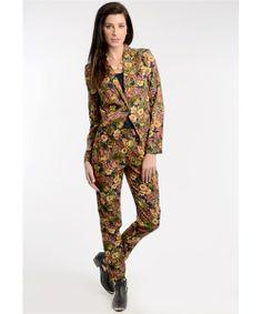Bold Botanical Blazer with Matching Pants Sold Separately