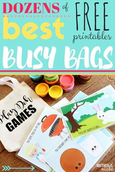 This is the best resource you will ever find for easy to assemble busy bags, that you can do mostly from home. Use all the free printables and enjoy!