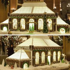Ever since The Inn on Biltmore Estate opened in 2001, its Christmas at Biltmore decorations have included a miniature version of the hotel made from gingerbread. In 2016, however, Pastry Chef Cheryl Brookhouzen changed things up with her Walled Garden-inspired gingerbread Conservatory!