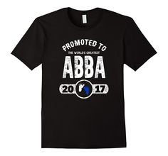 Mens Promoted to World's Greatest Abba! Hebrew Jewish Father Tee