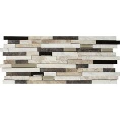 MS International Ashlar Rock Interlocking 8 in. x 18 in. x 8 mm Glass Stone Mesh-Mounted Mosaic Tile-SGLSIL-AR8MM at The Home Depot