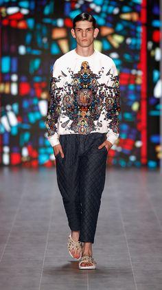 grabyourankles:  model walks for Kilian Kerner spring/summer 2015