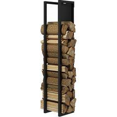 Elegant vegghengt vedoppbevaring i stål som skaper et blikkfang i stua. Finnes i sort eller hvit, i to ulike høyder, og med og uten plate. Woodwall er enkel å montere. To ulike høyder; 130 og 190 cm.