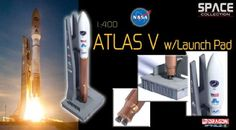 #PopularKidsToys Just Added In Store! Dragon Wings Space Collection NASA Atlas V Rocket w/Launch Pad 1:400 Scale Model 56246 - NASA Atlas V Rocket w/Launch Pad   Atlas V Rocket, the newest of the Atlas Rocket family that was originally used in intercontinental ballistic missiles, is now the workhorse of the US space program launching payloads into space. It employs a Russian-built RD-180 engine for its first stage as part of the Common Core Booster (CCB), and an American RL10