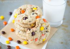 Reese's+Pieces+Cookies+that+are+chewy+so+perfect!+ / can't wait to try these