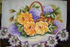 Beautiful Flowers Images, Flower Images, Baby Shower Invitaciones, One Stroke Painting, Arte Floral, Table Runners, Cross Stitch Patterns, Floral Wreath, Lily