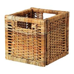 $7.99 Handwoven; each basket is unique. Handles make it easy to pull out and lift the box
