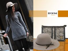 Sombrero gris con lazo de FOR TIME