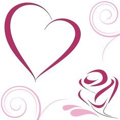 Smlpe valentines day card with heart vector