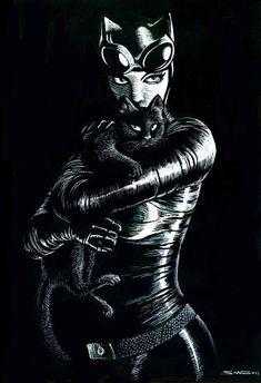 Catwoman by Salvador Sanz Batman Batman Gato, Batman 1, Batman And Catwoman, Batgirl, Catwoman Comic, Superman, Comic Book Characters, Comic Character, Comic Books Art
