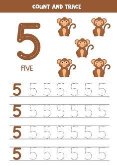Number Worksheets Kindergarten, Writing Practice Worksheets, Preschool Writing, Numbers Preschool, Preschool Learning Activities, Learning Numbers, Writing Numbers, Arabic Alphabet For Kids, English Worksheets For Kids