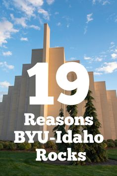 These 19 things are so true. If only everyone knew how awesome BYU-I is.