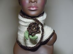 Crocheted wool neckwarmer by Cheryl of Purple Butterfly Crochet Collection Not for reproduction - Thank you! Yarn Flowers, Crochet Wool, Purple Butterfly, Neck Warmer, Crochet Projects, Crochet Necklace, Cheryl, Trending Outfits, My Style