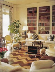 """The """"Money Room"""" in Brooke Astor's Manhattan apt decorated by A.H."""