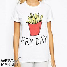 ✨HOST PICK✨ -NEW ARRIVAL-  Fry-day tee PLEASE COMMENT TO BUY THIS LISTING with the SIZE you would like, I will make a separate listing for you! West Market SF Tops Tees - Short Sleeve