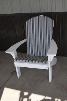 Adirondack Full Chair Cushion In Gray Stripe