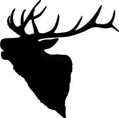Elk Head Silhouette 836 x 829 .png