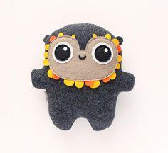 Bambak Lorka best friend geek toy girlfriend gift cute | Etsy Polymer Clay Kawaii, Polymer Clay Animals, Woodland Creatures, Cute Creatures, Geek Toys, Sock Monster, Felt Finger Puppets, Softie Pattern, Softies