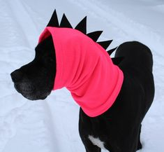 XL Great Dane Snood / Dinosaur Neck Warmer / Great Dane