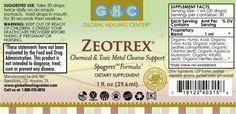 Check this label and read what contains Zeotrex Remedy!